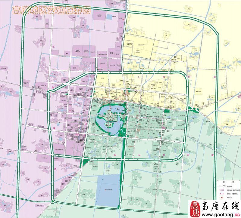 高唐地图-高唐行政地图